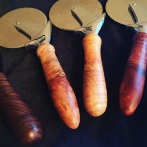 Wood handle Pizza Cutter