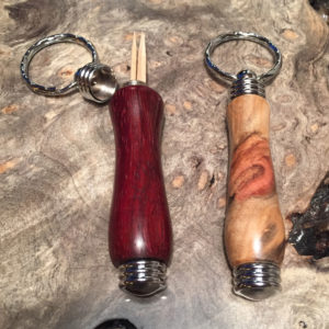 wood key chain